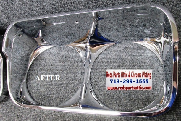 1968 CHEVY IMPALA HEADLIGHT BEZELS.