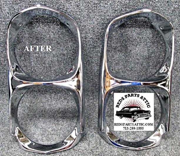 1966 GTO HEADLIGHT BEZELS.