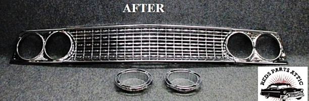 1963 FORD FAIRLANE GRILLE AND TAIL LIGHT.