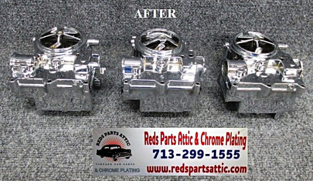 ROCHESTER 2 JET TRI-POWER CARBS.