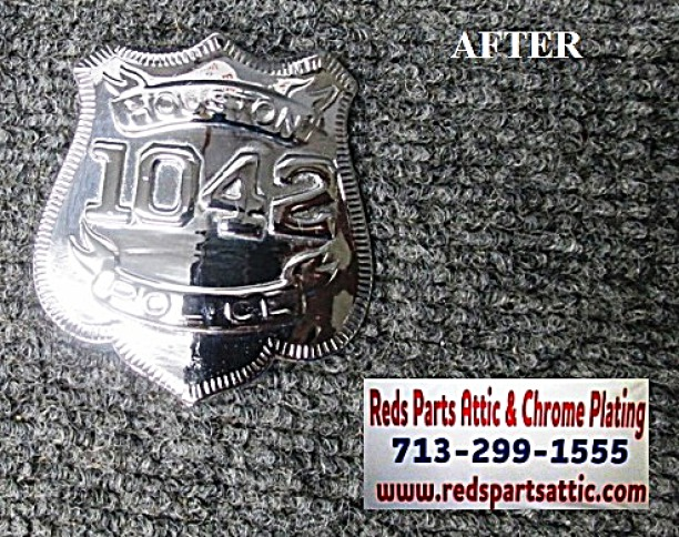 HOUSTON POLICE OFFICERS BADGE.