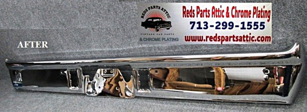 1967 DODGE CORONET RT REAR BUMPER.