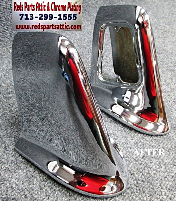1955 CADILLAC ELDORADO REAR BUMPER GUARDS.