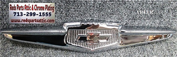 1951 CHEVY TRUNK EMBLEM.