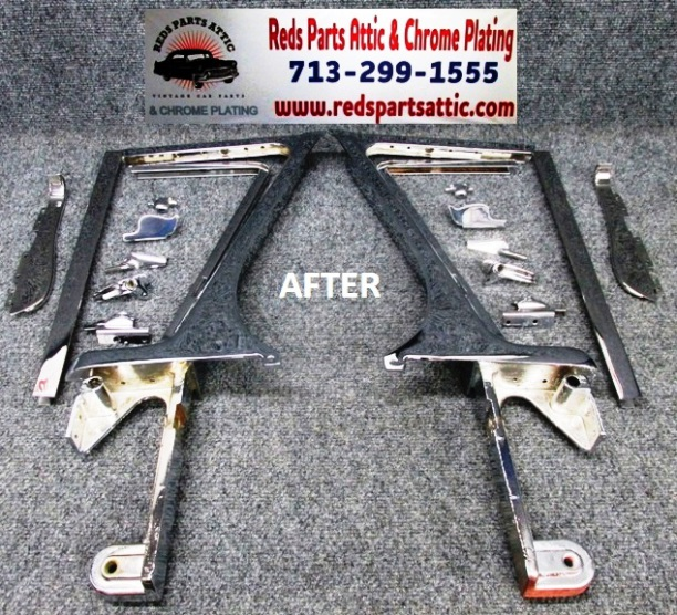 1957 FORD VENT WINDOW FRAMES.