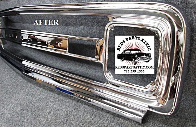 reds parts attic chrome plating classic car chrome parts plating Chevy Buck Stop Bumpers 1970 chevy c10 grille